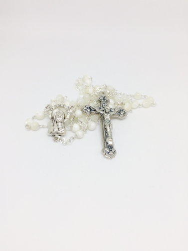 Mother of Pearl Standard Small Bead Rosary